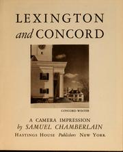 Cover of: Lexington and Concord