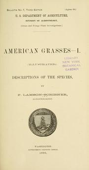 Cover of: American grasses