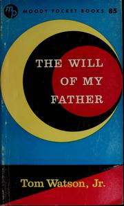 Cover of: The will of my Father