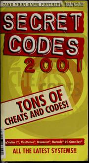 Cover of: Secret codes 2001 | BradyGames (Firm)