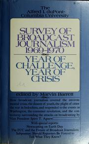 Cover of: Survey of broadcast journalism, 1969-1970