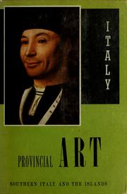 Cover of: Provincial art