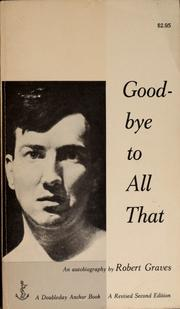 Cover of: Good-bye to all that