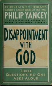 Cover of: Disappointment with God