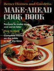 Cover of: Make-Ahead Cook Book