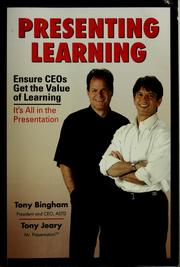 Cover of: Presenting learning