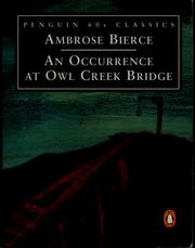 Cover of: An Occurrence at Owl Creek Bridge