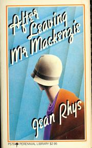 Cover of: After leaving Mr. Mackenzie / Jean Rhys