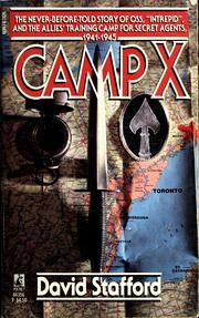 Cover of: Camp X