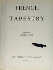 Cover of: French tapestry | AndrГ© Lejard