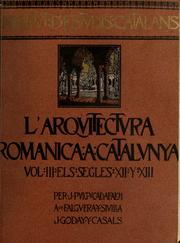 Cover of: L'Arquitectura romànica a Cataluyna