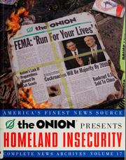 Cover of: The Onion presents homeland insecurity