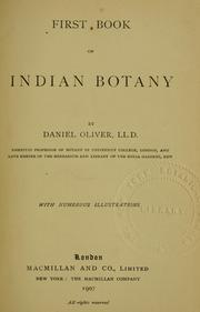 Cover of: First book of Indian botany
