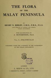 Cover of: The flora of the Malay Peninsula | Ridley, Henry Nicholas