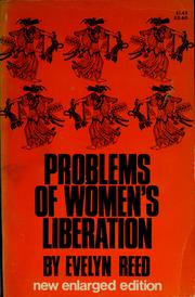 Cover of: Problems of women's liberation