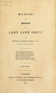 Cover of: Memoirs and remains of Lady Jane Grey