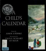 Cover of: A child's calendar