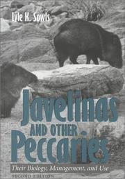 Cover of: Javelinas and Other Peccaries | Lyle K. Sowls