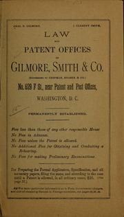 Cover of: Patents and how to obtain them ... | Gilmore, Smith & co., Washington, D.C.] [from old catalog