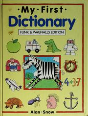Cover of: My first dictionary