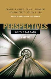 Cover of: Perspectives on the Sabbath |
