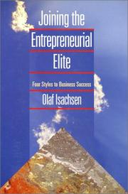 Cover of: Joining the entrepreneurial elite