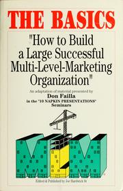 Cover of: How to build a large successful multi-level marketing organization | Don Failla