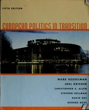 Cover of: European politics in transition