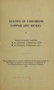 Cover of: Alloys of chromium