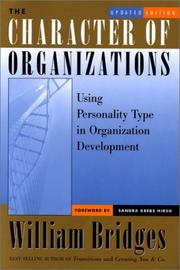 Cover of: The Character of Organizations