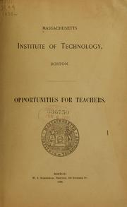 Cover of: Opportunities for teachers