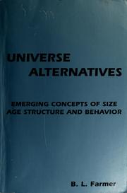 Cover of: Universe alternatives by Billy L. Farmer