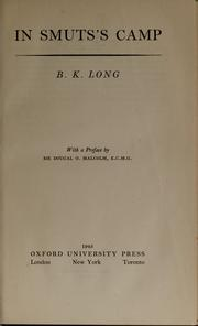 Cover of: In Smuts's camp