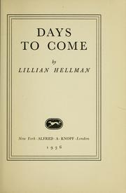 Cover of: Days to come