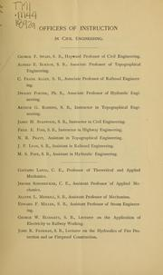 Cover of: Department of Civil Engineering