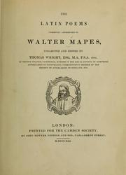 Cover of: The Latin poems commonly attributed to Walter Mapes