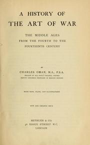 Cover of: A History of the Art of War | Charles William Chadwick Oman