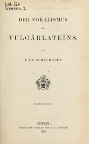 Cover of: Der Vokalismus des Vulgärlateins