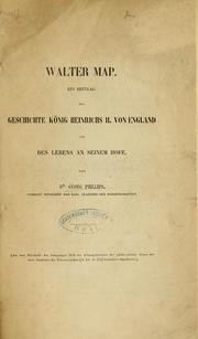 Cover of: Walter Map | Georg Phillips