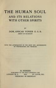 Cover of: The human soul and its relations with other spirits