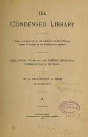 Cover of: The condensed library. | Alice Stover
