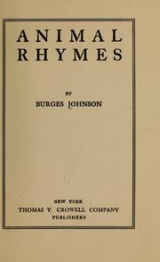 Cover of: Animal rhymes
