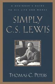 Cover of: Simply C. S. Lewis