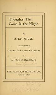 Cover of: Thoughts that come in the night