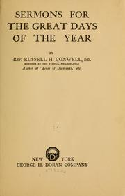 Cover of: Sermons for the great days of the year