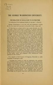 Cover of: The relation of education to patriotism
