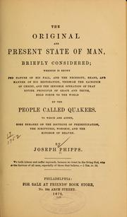 Cover of: The original and present state of man, briefly considered