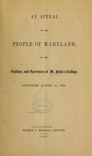 Cover of: An appeal to the people of Maryland