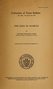 Cover of: The king in Hamlet