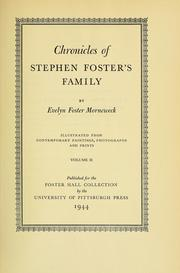 Cover of: Chronicles of Stephen Foster